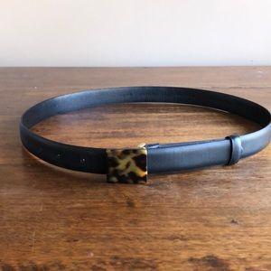 Ann Taylor black belt with tortoise buckle